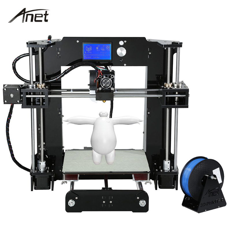 Anet Desktop A6 A8 3D Printer Kit impresora 3D Printers Reprap i3 Aluminum Hotbed With 1000G Filament 8GB SD Card +Build Tools anet a8 a6 3d printer high precision impresora 3d lcd screen aluminum hotbed extruder printers diy kit pla filament 8g sd card