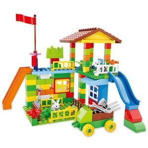 Image 2 - Große Größe Bausteine Amusement Park DIY Kompatibel Duploed Ziegel Montage Ziegel Bau Gebäude Spielzeug Für Kinder