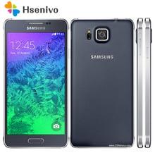 100% Débloqué Original Samsung Galaxy Alpha G850A G850 G850F Ouad Base 32 GB ROM 12.0MP 4.7 Pouce Écran Tactile Mobile Téléphone