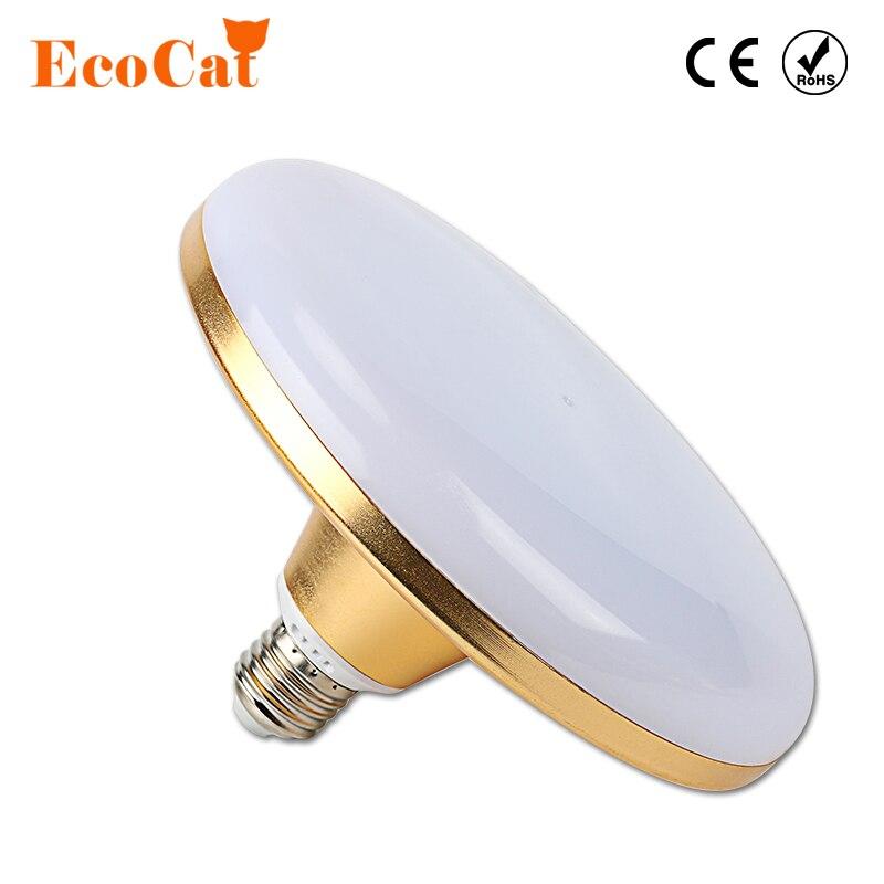 цена на UFO Design LED Bulb E27 40w 50w 60w SMD 5730 Flat High Power Bright Lampada Led AC 220V Super Bright Light Bulb For Home Lightin