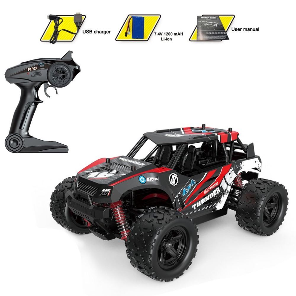 1:18 Scale 4CH 4WD 2.4GHz Mini Off-Road RC Racing Car Truck Vehicle High Speed 36km/h Remote Toy for Kids hi