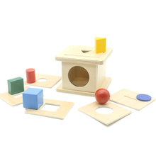 Montessori Sensory Toys Shape Match Up Game Box 6 in 1 Wooden Learning Educational Baby Toys Juguetes Montessori G0564H