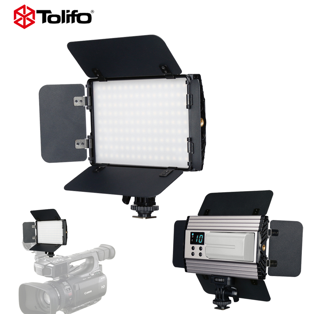 Tolifo PT-15B II Alluminium Slim Photo LED Video Studio Light Bi-Color & Dimmable w/ Barndoor for Canon Nikon Camera CamcorderTolifo PT-15B II Alluminium Slim Photo LED Video Studio Light Bi-Color & Dimmable w/ Barndoor for Canon Nikon Camera Camcorder