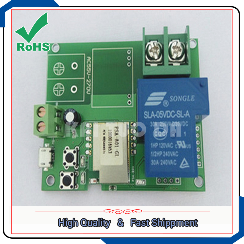 Wifi Remote High Power Relay Module For Remote Control Switch 220V 30A 6000W