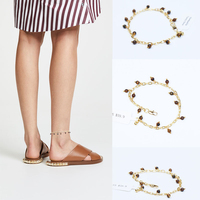 2018 Hot Sale New Trendy Copper Women Leg Bracelet Anklets Anklet Foot Jewelry Beach Wedding Bridesmaid Gift Handcrafted Dainty