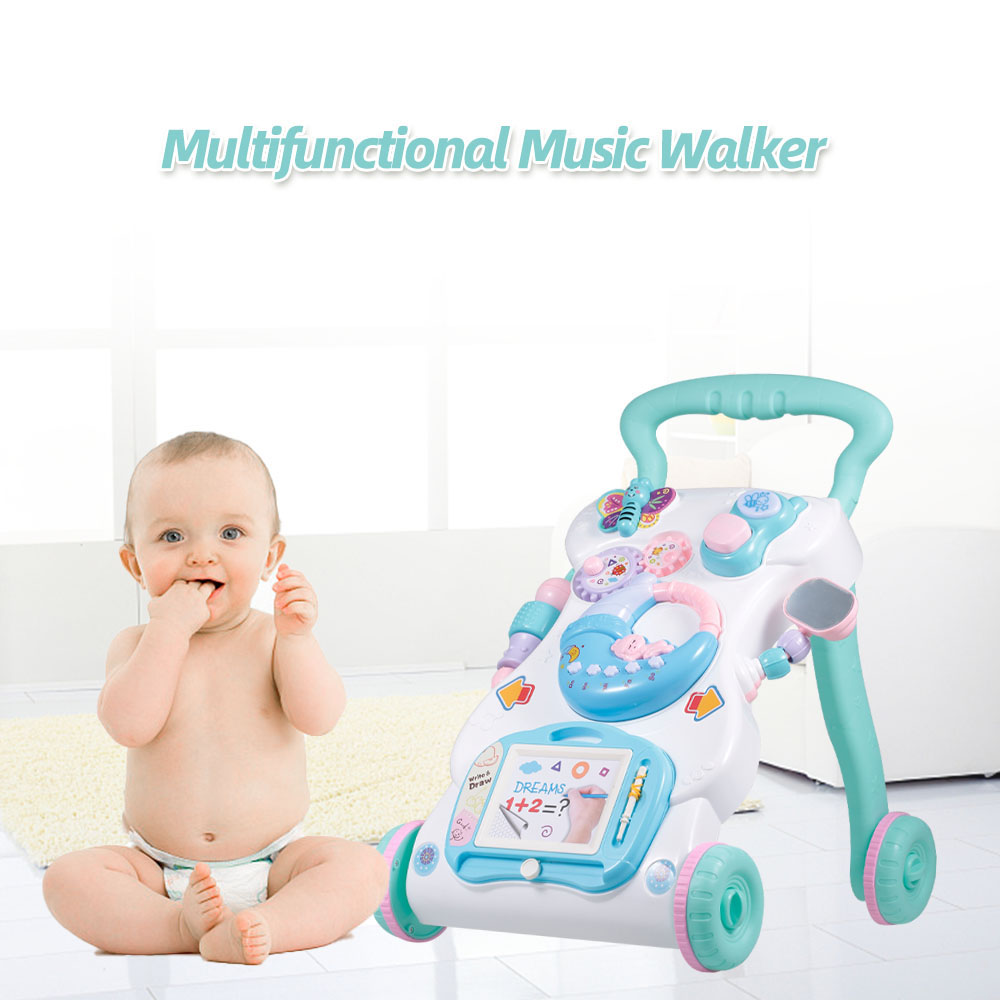 High Quality Baby Walker Toys Multifuctional Toddler Trolley Sit-to-Stand ABS Musical Walker For Toddler