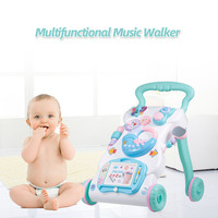 High Quality Baby Walker Toys Multifuctional Toddler Trolley Sit to Stand ABS Musical Walker for Toddler