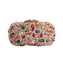 Luxus Kristall Abendtasche Clutch Taschen für Frauen Hochzeit Prom Dinner-Party Kristall Kupplungen