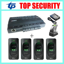 TCP/IP 2door access control system access control board with 4pcs rf1200 fingerprint reader and 1 fingerprint sensor to add user