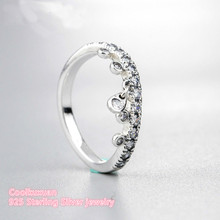 Popular chandelier banding buy cheap chandelier banding lots from 2018 new spring 100 authentic 925 sterling silver chandelier droplets ring clear cz for diy jewelry women mozeypictures Choice Image