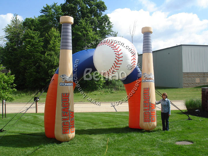R069 Inflatable baseball arch/inflatable archway/ arch/baseball bat advertising inflatable arch, inflatable product