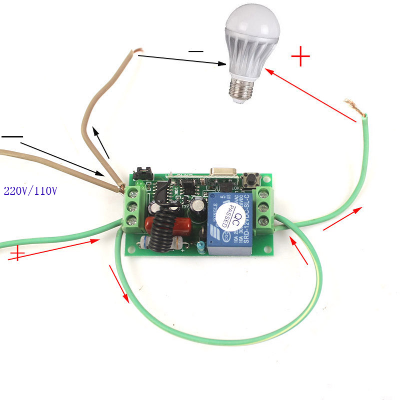 controle remoto sem fio 8 receptor interruptor
