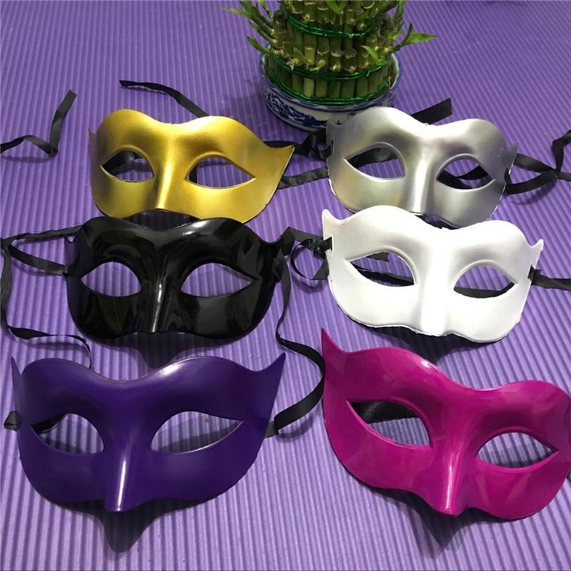Сексуальный костюм для мужчин и женщин, 9 цветов, маска для выпускного вечера, Венецианская маска Марди Грас вечерние танцевальный маскарад...