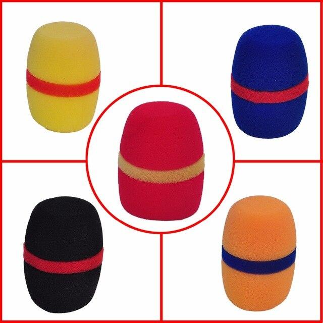 WS 01 çeşitli renkler kalınlaşmak formu profesyonel mikrofon ön camları Mic kapak koruyucu ızgara kalkan yumuşak sünger kap