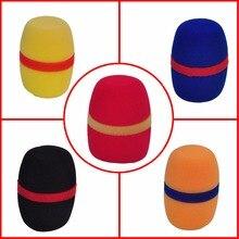 WS 01 שונים צבעים לעבות טופס מקצועי מיקרופון שמשות מיקרופון כיסוי מגן גריל מגן רך ספוג כובע