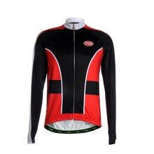 TVSSS 2017 Men's long Sleeve Winter Cycling Jersey Sportswear Bike Clothing Simple Design with Black and Red Color Ropa Ciclismo