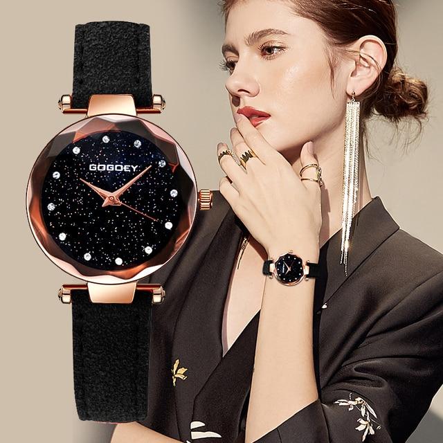 Gogoey Women's Watches 2018 Luxury Starry Sky Wrist Watch Top Brand Ladies Watch