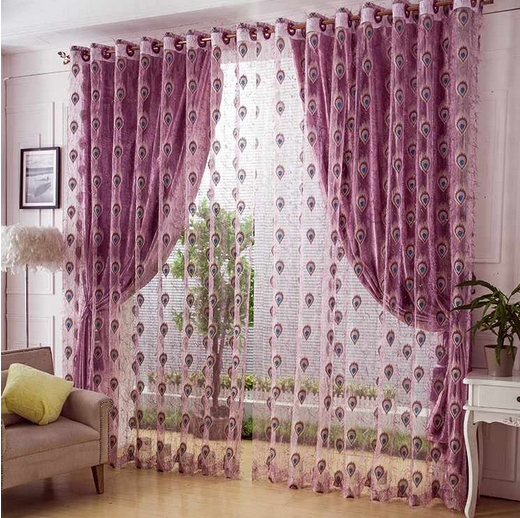 3 Colors Wedding Decoration Chiffon Curtain With Fabric Free Shipping