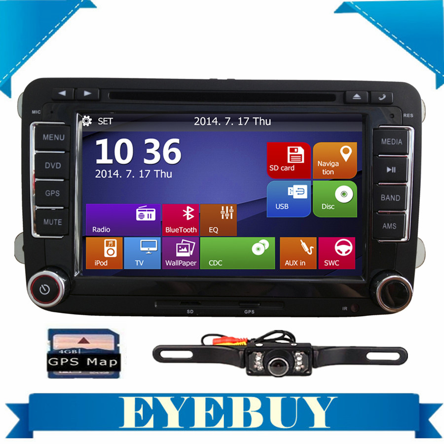 7 car gps stereo dvd player for vw golf mk5 mk6 gti jetta. Black Bedroom Furniture Sets. Home Design Ideas
