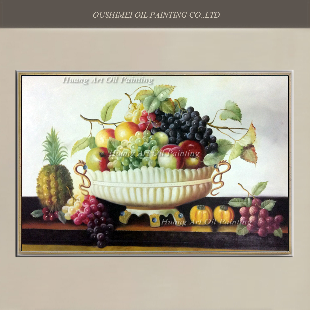 Fruit Bowl Oil Paintings On Canvas