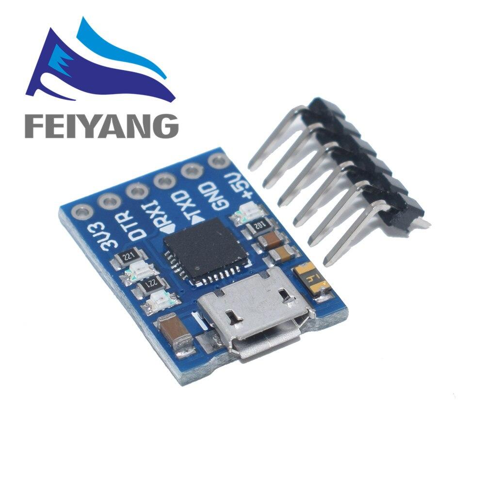 1 pces cp2102 micro usb para uart ttl módulo 6pin conversor serial uart stc substituir ft232