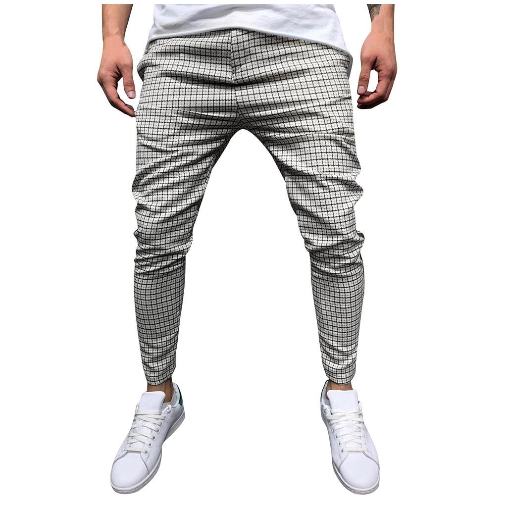 Pants - Stripe Splicing Pocket Sport Work Casual Trouser Pants