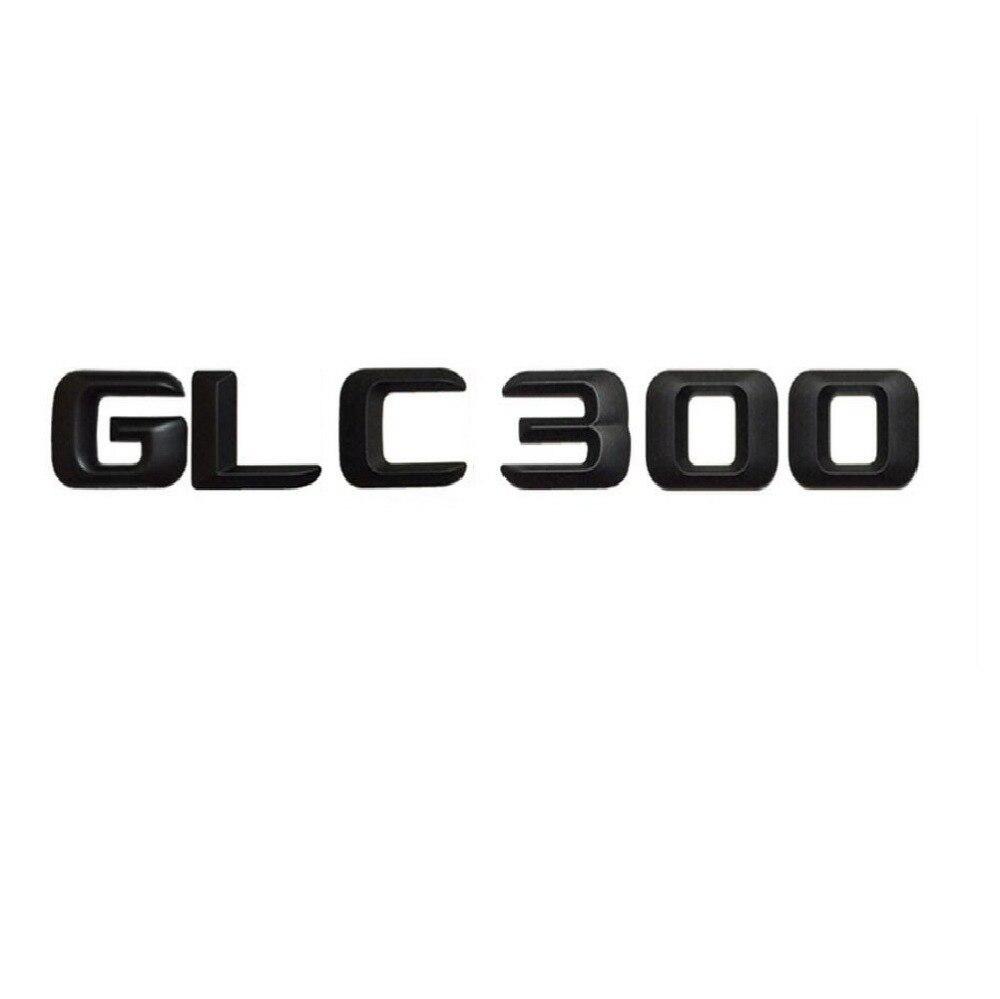 Noir mat GLC 300 coffre de voiture arrière lettres mots numéro Badge emblème autocollant autocollant pour Mercedes Benz GLC classe GLC300