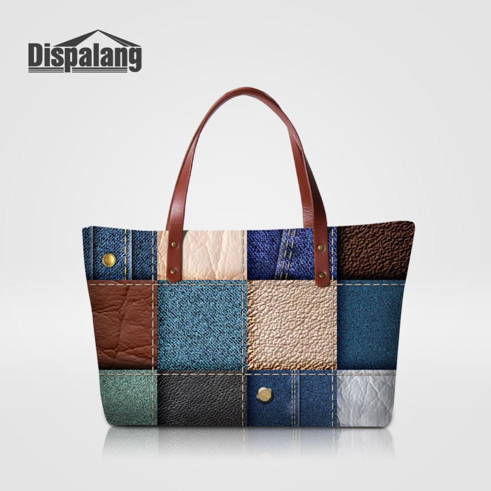 dispalang marcas famosas mujeres bolsos de patchwork de impresin gran bolsa de asas de bolsas de