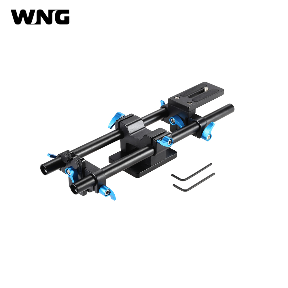 YLG1005D 15mm Rail Rod Support System 30cm in Length DSLR Camera Track Rail Slider Baseplate with 1/4