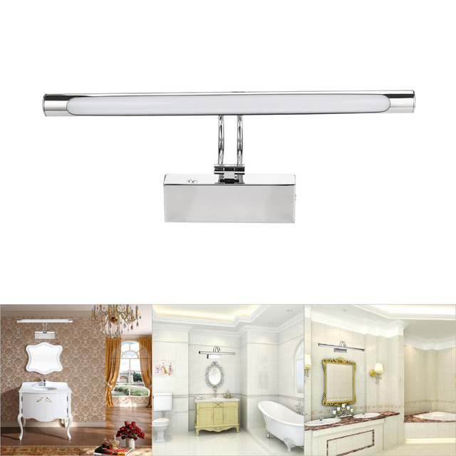 LED Bathroom Wall Light 8W 11W 40 SMD 2835 Warm White LED Mirror Front  Stainless Steel Lighting Lamp for Home Decoration