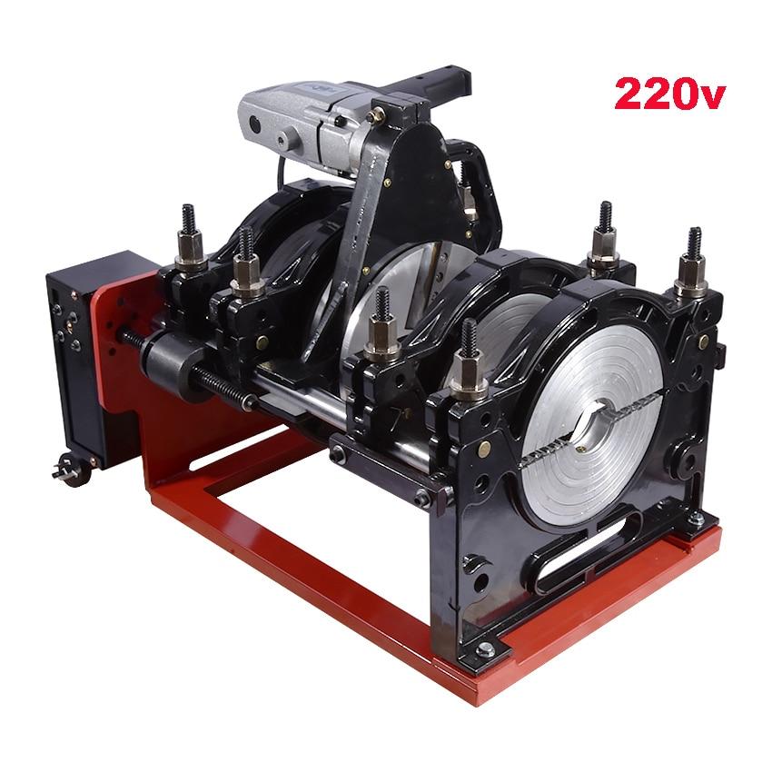 New 220V screw type hot melt welding machine Grip - type hand - cranked screw type 63-200 PE hot - melt welding machine welder цена