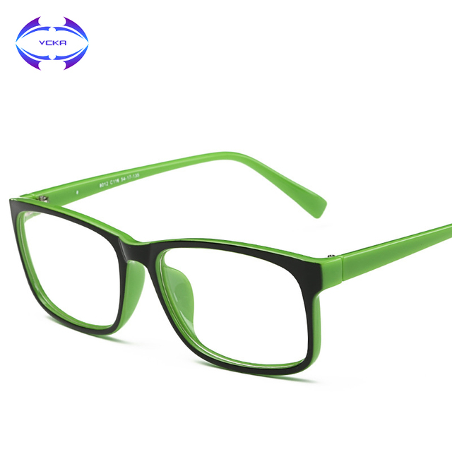 32fbb64f4b9 VCKA 2017 New Eyeglasses Men Women Square Brand Designer Eye Glasses Frames  Clear Optical Myopia computer Eyewear oculos de grau