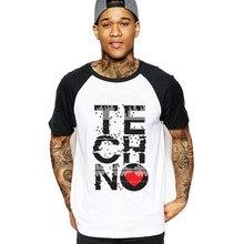b8b8ae67a 2018 miłość Techno koszulka męska muzyka biały t-shirt Detroit Techno z  krótkim rękawem nowe koszulki z krótkim rękawem męskie t.