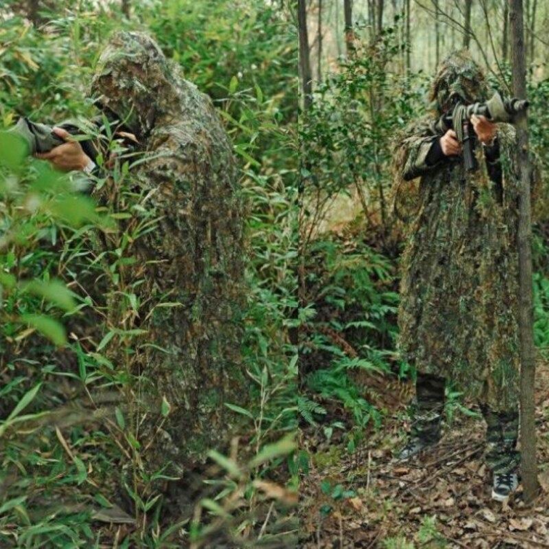 Équipement militaire tactique Ghillie costume herbe sèche désert Airsoft boisé Camouflage CS furtif Sniper chasse Paintball costume