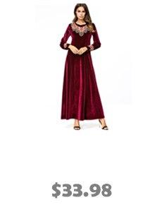 Empire Muslim Abaya Dress Patchwork Robe XL 7XL Plus Size Dubai ... d1ed31ee6caf