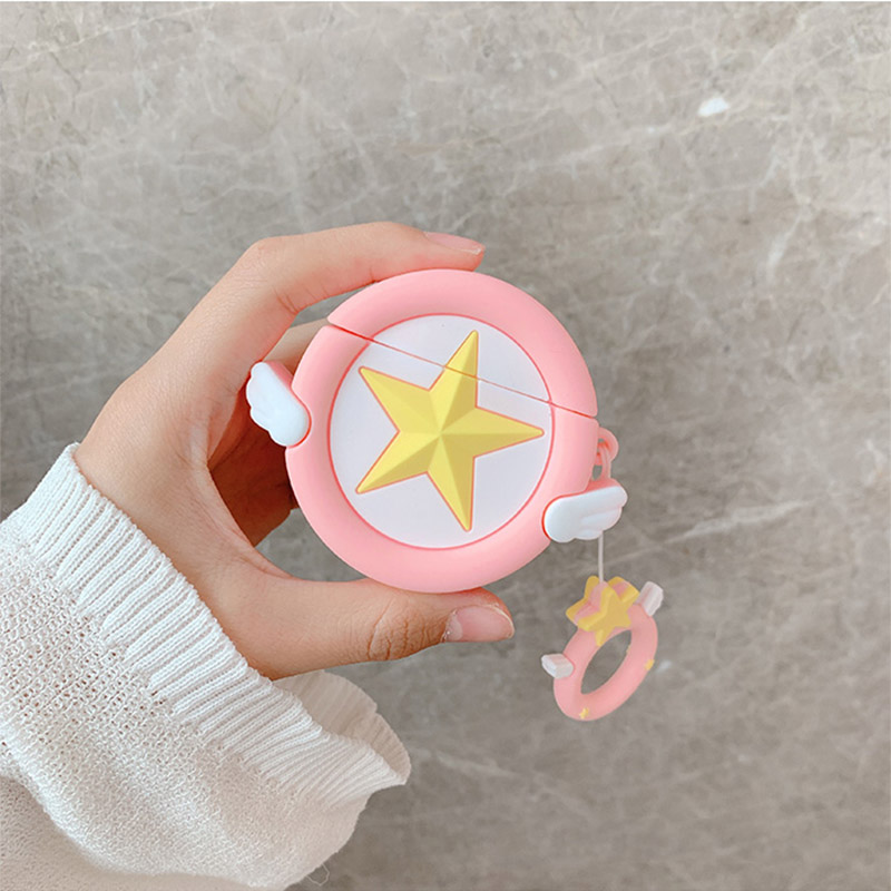 Image 3 - Sailor Moon Transformer For Airpods Case Cute Silicone Bluetooth Earphone Protective Cover Capa Cartoon for Air pods Key Strap-in Earphone Accessories from Consumer Electronics