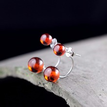 L&P Vintage Gemstone Thai 925 Silver Garnet Wedding Drop Earring 925 Sterling Silver Statement Earrings Women Jewelry