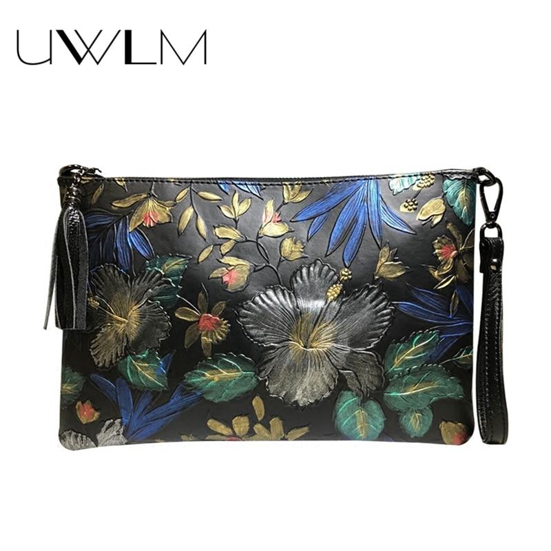 Embossed Clutches Women Luxury Handbags Flowers Bags Designer 2018 shoulder Crossbody Mujer Bolsa Envelopes Shopping Clutch Bags
