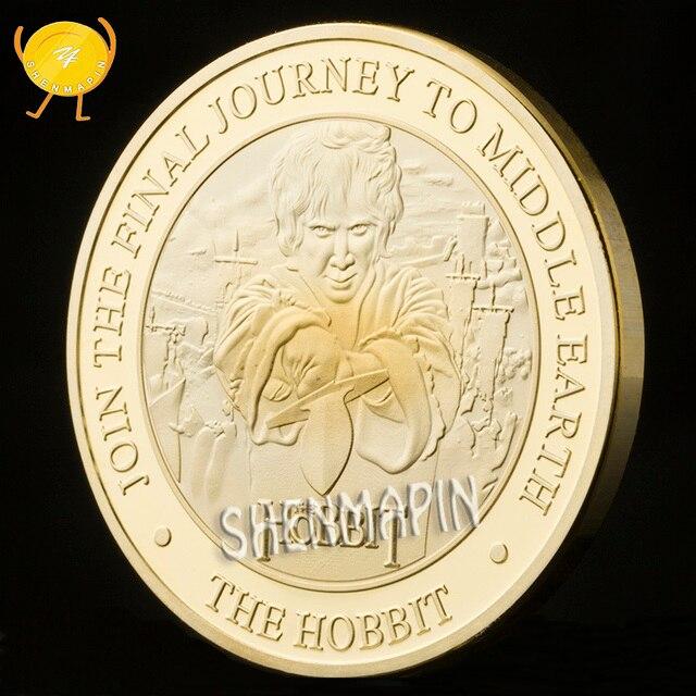 El Señor de los anillos película moneda conmemorativa El Hobbit un viaje inesperado la batalla de las cinco monedas del ejército coleccionables