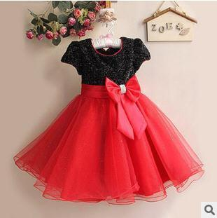 Girls Summer Dress Sleeveless Baby Girl Dress Princess Tutu Costume Bow Kids Clothes Girls Dresses For Party And Wedding Sequin