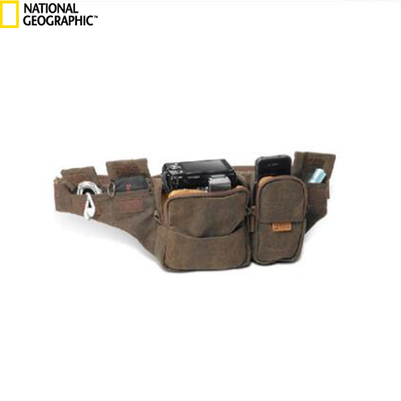 National Geographic A4470 Canvas Camera Bag Carry Bag Waist Packs 5 Years Warranty Multi - pocket Bag For Digital Action Camera national geographic ng au5350 leather camera bag backpacks large capacity laptop carry bag for digital video camera travel bag