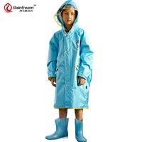 Rainfreem Impermeable Eco-friendly Children Raincoat Healthy Kids Rainwear Light Weight Rain Gear Poncho S-3XL