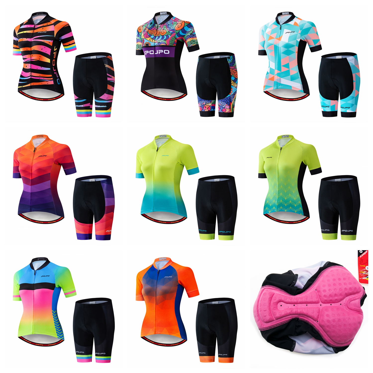 JPOJPO Cycling Jersey Sets Women Mtb Racing Bike MTB Cycling Shirt Clothing Ropa Ciclismo Summer Short Sleeve Bike Jersey Sets