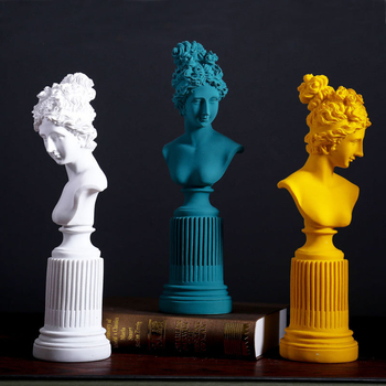 4 Color Resin European Frya Statue Creative Goddess Sculpture For Desktop Crafts Ornaments Home Decoration Figurine 75
