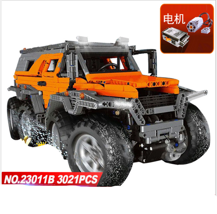 Lepin 23011B 3021Pcs Technic Series Off-road vehicle Diy Model Building Kits Block Educational Bricks Compatible Toys Gift hot 378pcs technic motorcycle exploiture model harley vehicle building bricks block set toy gift compatible with legoe