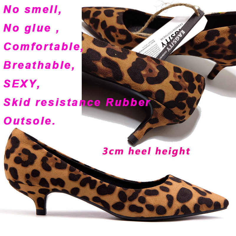 f420deb9e6 ... Suede Sexy leopard women shoes kitten heels pointed toe ladies high heel  shoes pumps office career ...