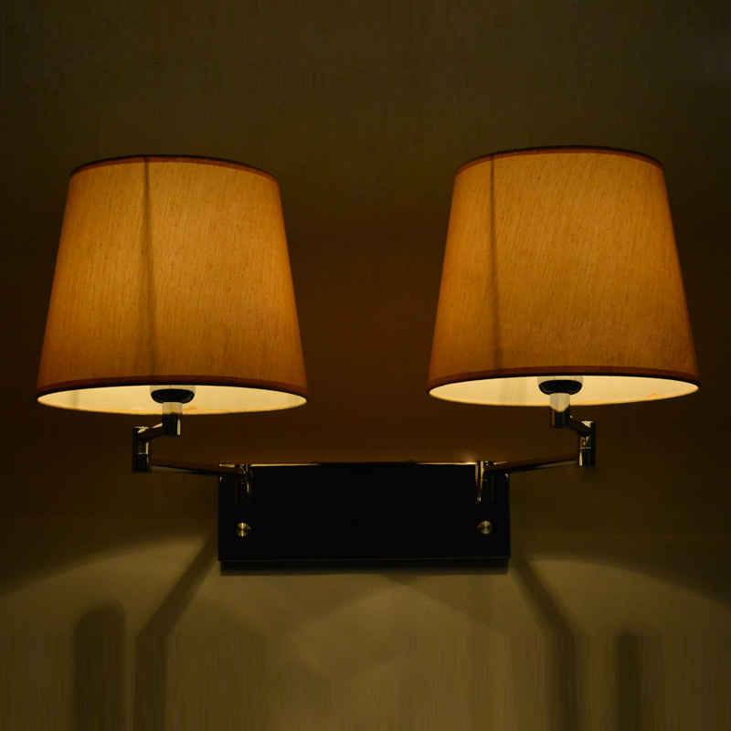 Lighting wall lamp Modern brief ofhead cloth lamp E27 customize project light