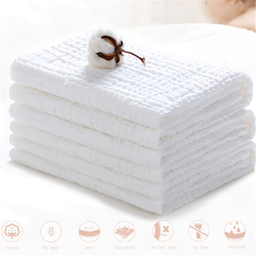 Square Cartoon Baby Towel Cotton Newborn Muslin Wash Quality Luxury Wipes Absorbent Cozy Soft Baby Towel Set 70A0110