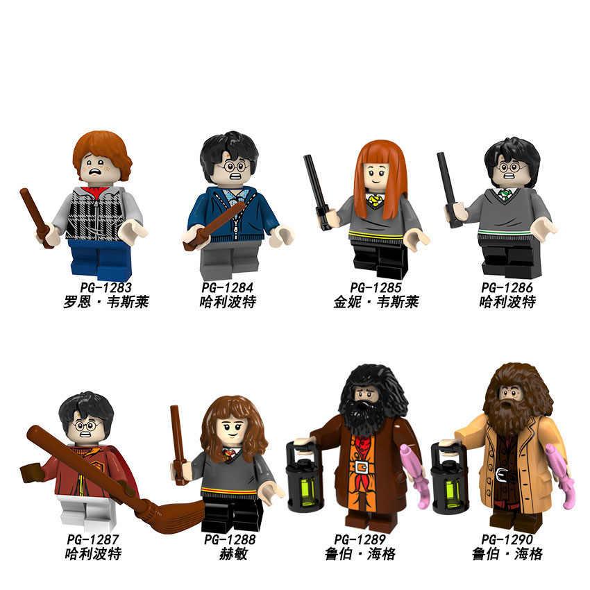 Гарри игрушки Поттер и Deathly Hallows Legoingly Гермиона Рон Дамблдор рубеус Хагрид Малфой строительные блочные фигурки YF30
