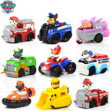 цена на Everest Paw Patrol Puppy Patrol Dog car patrulla canina Toys Anime Figurine Car Plastic Toy Action Figure model Children Party